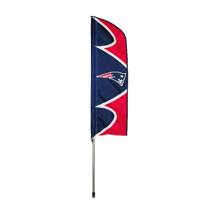 New England Patriots NFL Swooper Flag w/ Pole