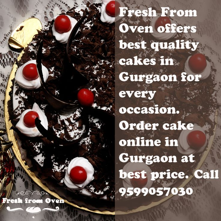 Fresh From Oven offers best quality cakes in Gurgaon for every occasion. Order cake online in Gurgaon at best price. Call now 9599057030  #Cakes #FreshCakes #EatCake #BdayCake #Online #CakeShop #CakeDelivery #Occasion #DeliciousCake #BirthdayCake #WeddingCake #Yummy #CakesInGurgaon #CakeMaster #HomeDelivery #ChocolateCake #Gurgaon #Love #Like #Follow