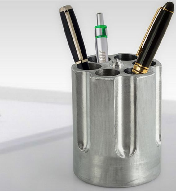 The Gun Cylinder Pen Holder is the Most Dangerous Looking Office Supply trendhunter.com