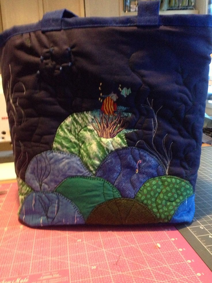 Ocean Bag with emproidery
