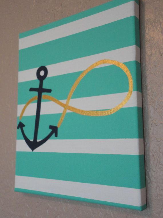 Anchor   Infinity Symbol   Stripe Wall Art @Shari Brown Brown Brown Brown Keen