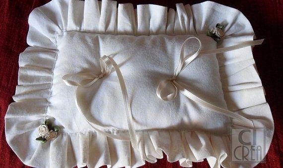 Cuscino portafedi cuscino porta anelli nuziali di CIcrea su Etsy
