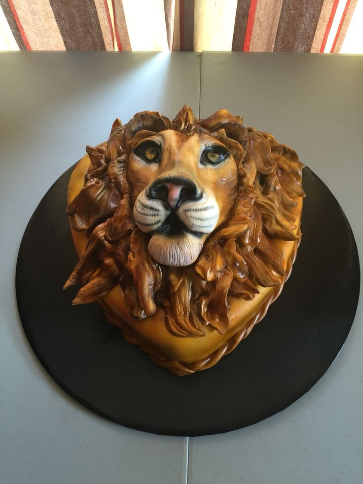 Lion Cake Yisalia Favorites Lion Cakes Cake