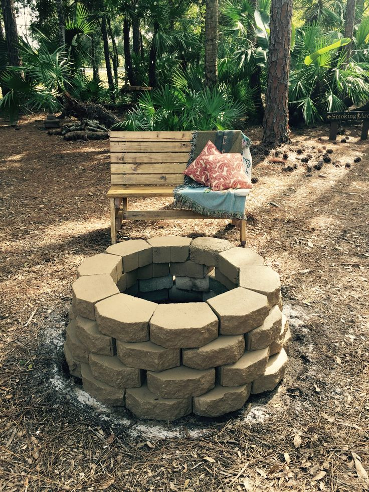 Cozy fire pit in the garden at Cielo Blu Barn.