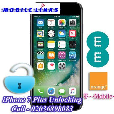 iPhone 7 Plus Unlocking - Orange/EE/T-Mobile UK Network