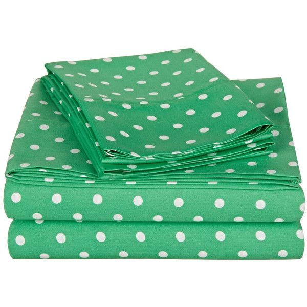 polka dot twin xl sheet set 47 liked on polyvore featuring - Twin Bed Sheets
