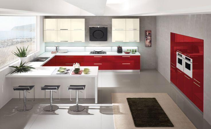 ... Cucina Penisola su Pinterest  Cucine, Armadi e Cucina Ranch Rialzata