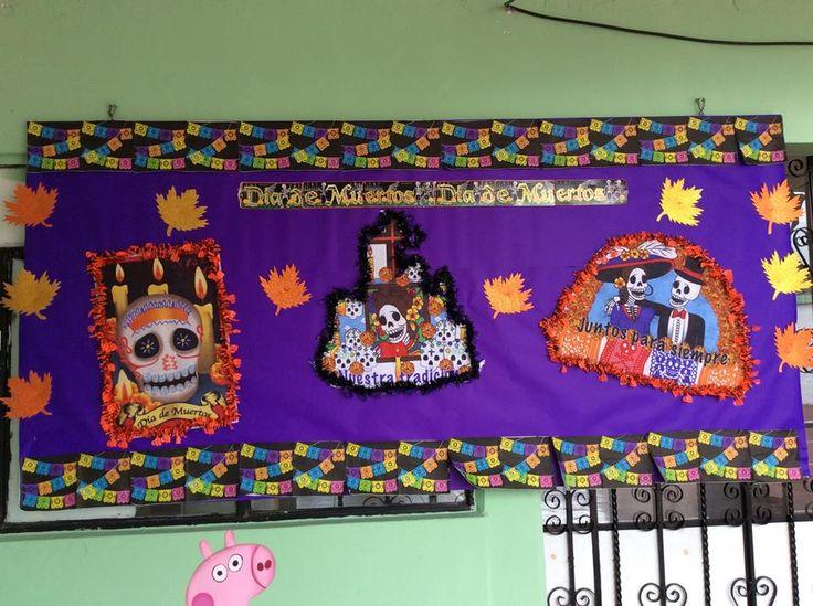 Mural del d a de muertos peri dicos murales pinterest for El mural de anuncios