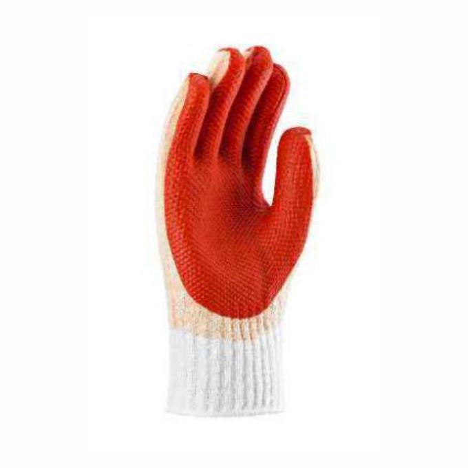 Fabricante: PROMAT   Tamanhos Disponíveis: G  Descrição:  Luva de segurança tricotada em fios de algodão, poliéster e poliamida; revestida em látex natural na palma, face palmar dos dedos e pontas dos dedos.