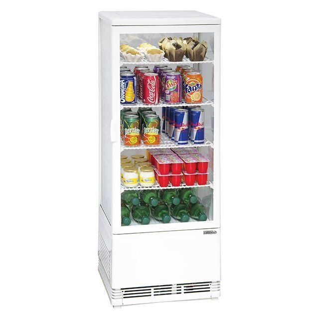 Casselin Vitrine Refrigeree A Poser 98l Blanc Cvr98lb Refrigerateur Table Top Frigo Encastrable Et Vitrine Refrigeree