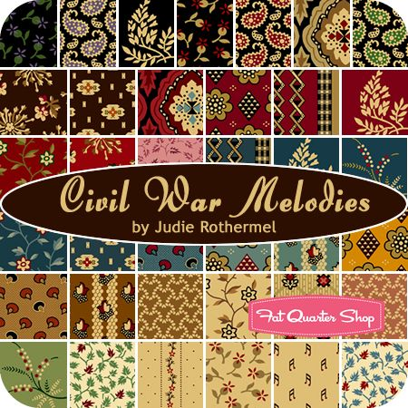 CIVIL WAR MELODIES by Judie Rothermel for Marcus  FabricsCivil Wars, Brother Fabrics, Marcus Brother, Wars Quilt, Wars Fabrics, Quarter Shops, Fat Quarters, Marcus Fabrics, Wars Melody