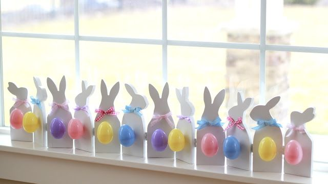 Bunny silhouette pattern - these are made from wood, but the pattern could be used to make them out of paper.