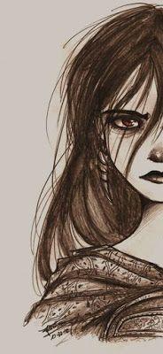 Saga Dieciséis Lunas #2: Hermosa Oscuridad, Kami García y Margaret Stohl - Los come libros- Lena Duchaness- Dibujo a lapiz.
