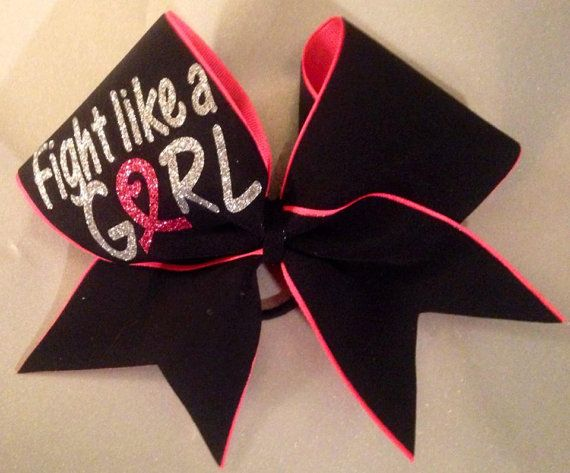 Breast Cancer Pink Ribbon Fight Like a Girl All by TakinCareofBows