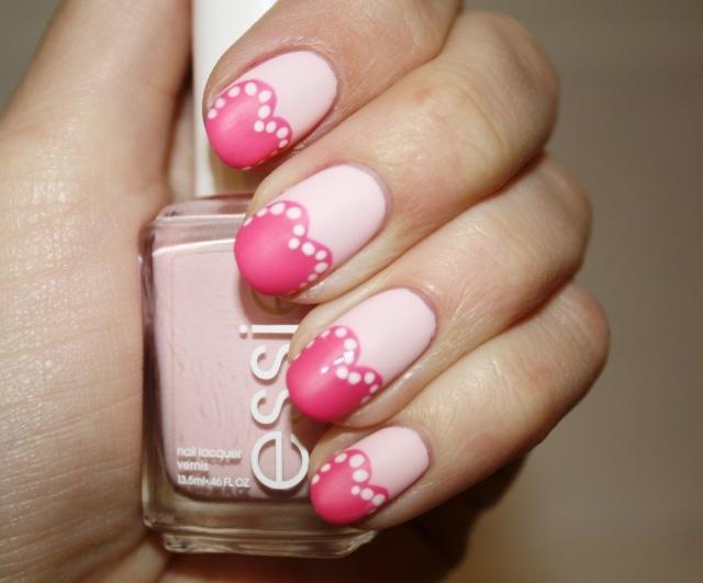 #nail_art #nails #nail_polish: Matte Nails, Heart Nails, Nails Art Tutorials, Pink Nails, Valentines Nails, Nails Ideas, Valentines Day Nails, Nails Art Design, Nails Tutorials