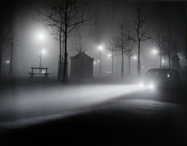 Fog And Car Lights, Avenue De L'Observatoire, C. 1934  Musée d'Art Moderne de la Ville de Paris