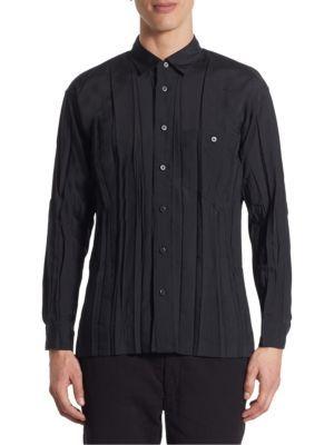 ISSEY MIYAKE Regular Fit Wrinkle Shirt. #isseymiyake #cloth #shirt