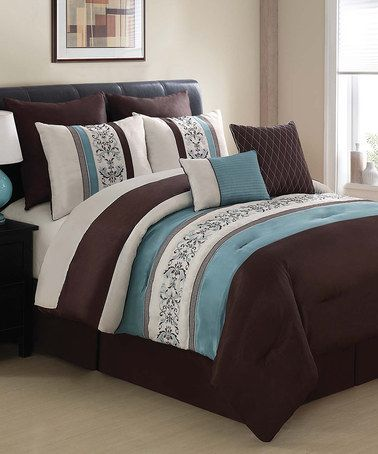 Take A Look At This Blue Brown Florence Comforter Set By Victoria Classics On