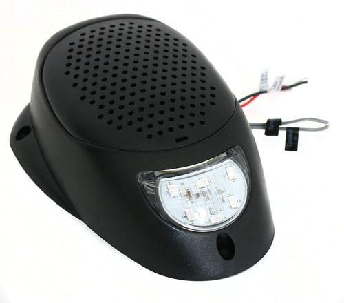 """Black 3"""""""" Water Resistant Surface Mount Satellite Speaker w Blue LED Lighting 12V"""