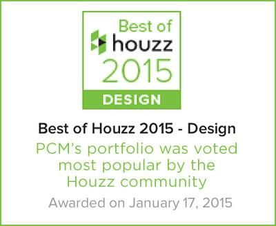 PCM - Project and Construction Management Inc. was voted by the Houzz community as winner of the Best of Houzz 2015 awards for both the Design and Customer Satisfaction categories! Read the press release below.