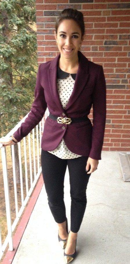 Purple Blazer via @Andrea / FICTILIS / FICTILIS / FICTILIS Castaneda