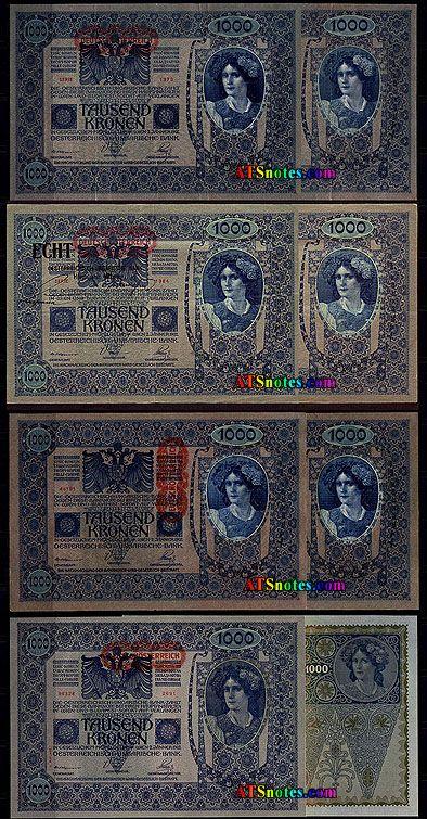 austrian money | 000 1 000 1 000 1 000 1 000 kronen overprint