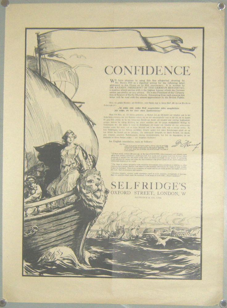 L.Raven Hill: Selfridges Opening 1909 poster
