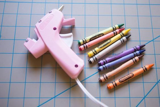 Use crayons and a hot glue gun to create a wax seal. Once glue glue gun is used with crayons it can't be used with glue.