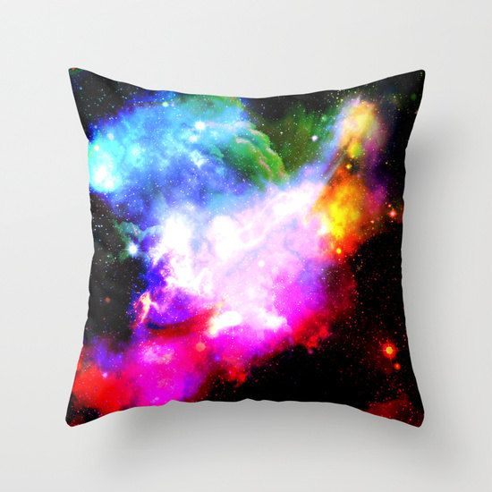 nebula pillow/colorful pillow/pillow by haroulitasDesign on Etsy