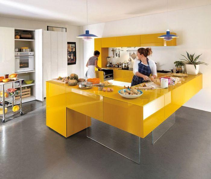 Желтые кухни: 15 примеров – Вдохновение