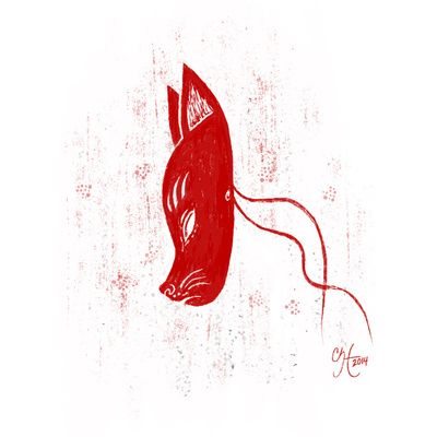 Fox Mask Art Print