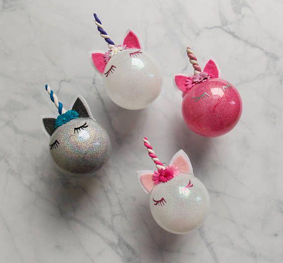 Unicorn Christmas Ornament Personalized Ornament Christmas