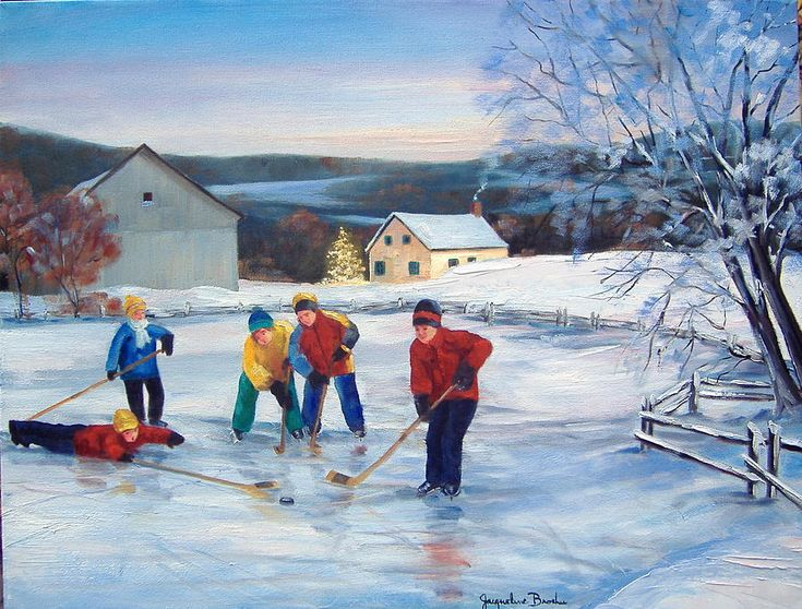 """Vacances D'hiver"" (Winter Holidays) by Jacqueline Brochu"