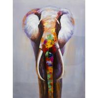 Éléphant coloré vu de face 36'' X 48''
