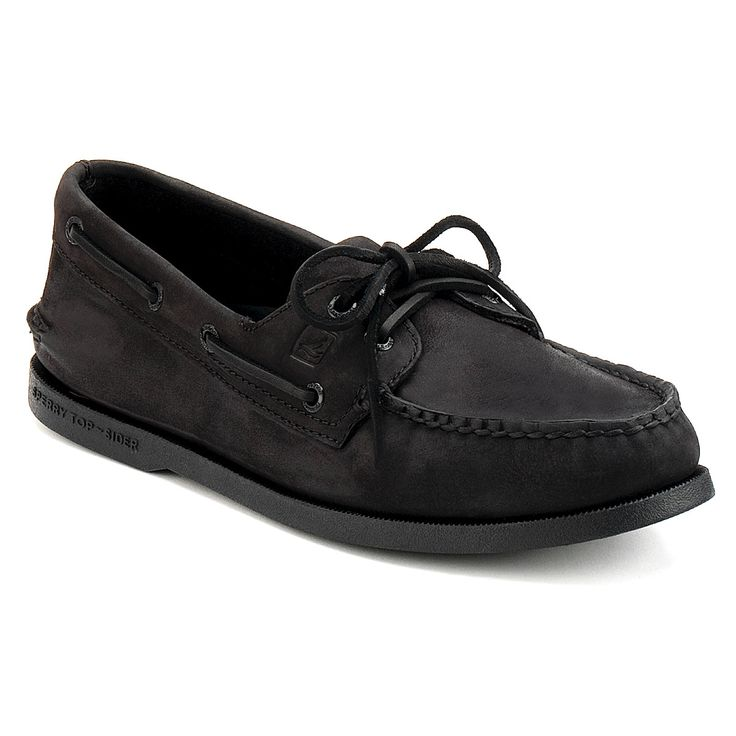 Sperry Top - Men's A/O Boat Shoes - Black