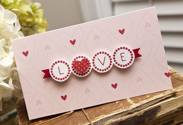 LOVE Card by Ashley Cannon Newell for Papertrey Ink (December 2012)