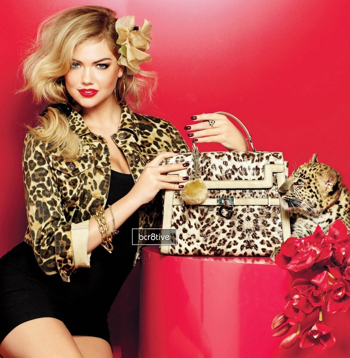 Guess - Faux Fur Animal Print Accessories