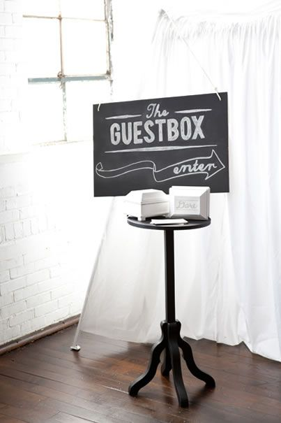 Video version of a guest book, but when the guests enter for their confessionals they get truth or dare questions!