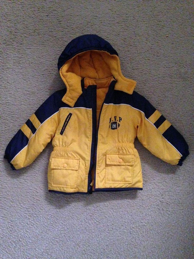 Boys Carters Yellow/Blue Winter Jacket - Toddler 4T #Carters #BasicCoat #DressyEveryday