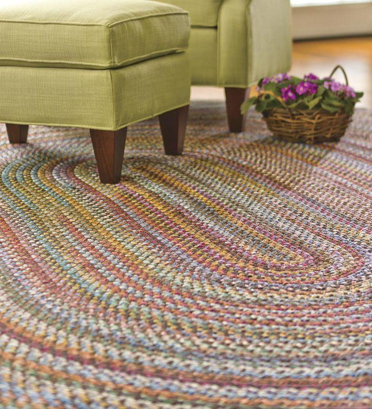 8' x 11' Blue Ridge Wool Blend Braided Rug- like the walnut mulit colored one