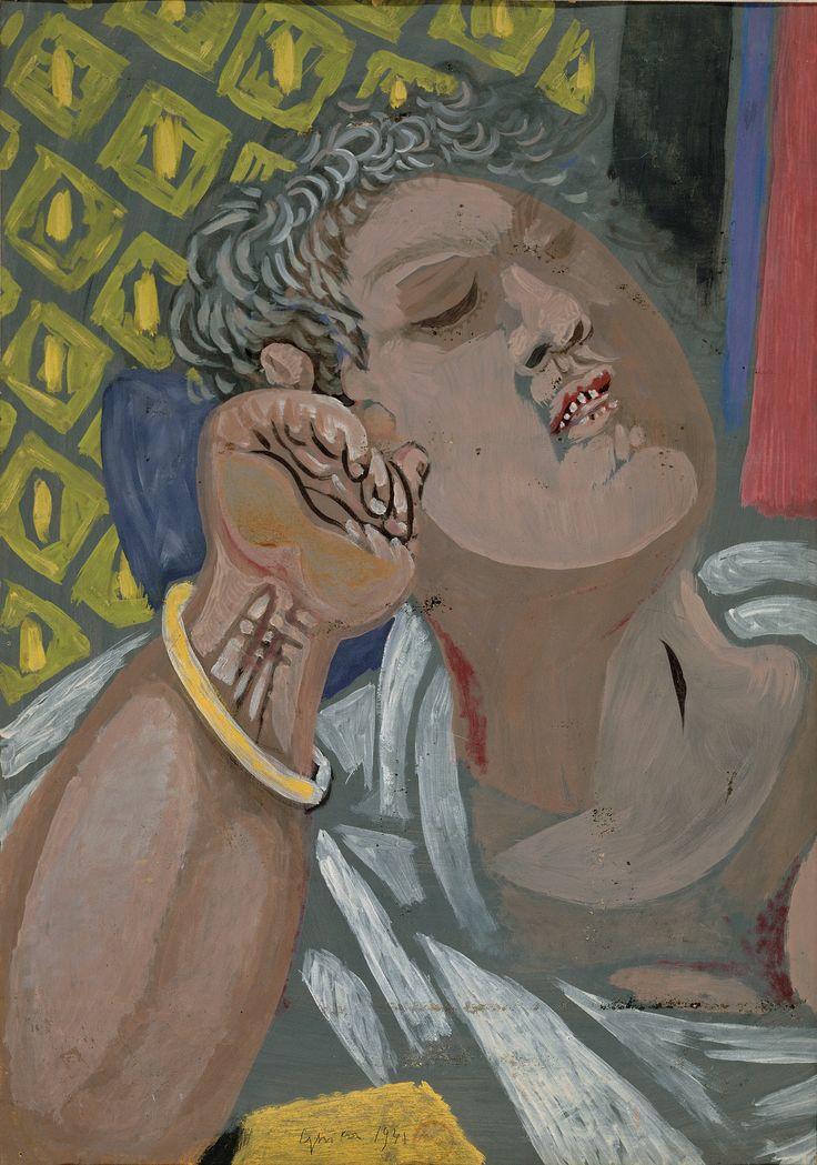 Νίκος Χατζηκυριάκος – Γκίκας, Πινακοθήκη Ε. Αβέρωφ   Αναπαυόμενος άνδρας, 1941  Τέμπερα σε χαρτόνι, 70 χ 50 εκ.
