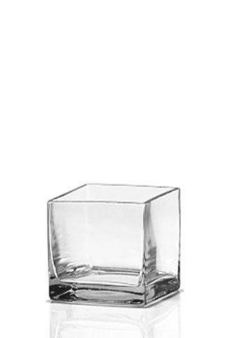 24 Square Cube Glass Vase  14 x 12 cm, PLUS  x10  10 - 11cm, the sides curve in a little bit
