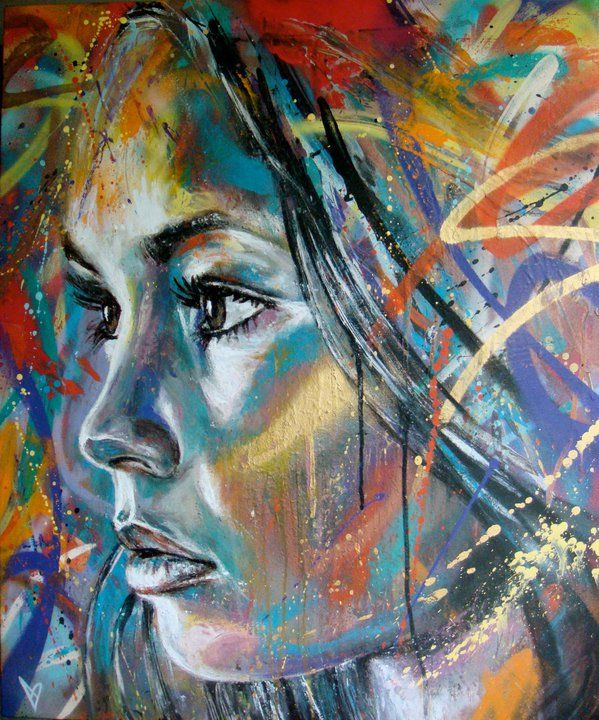 Retratos de tinta Spray na surpreendente pintura por David Walker