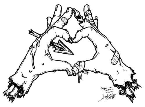 Zombie hand heart <3