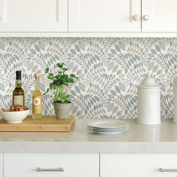 Nuwallpaper Gustavus Blues Vinyl Strippable Roll Covers 30 75 Sq Ft Nus3260 The Home Depot Kitchen Wallpaper Accent Wall Laundry Room Wallpaper Peel And Stick Wallpaper