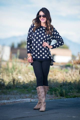 Dreamy Polka Dot Sweater- Try mixing prints and pair this cute polka dot sweater over a plaid shirt. $24 And ALWAYS FREE shipping Follow us on instagram @modestshoppin #modestshoppin www.sexymodest.com