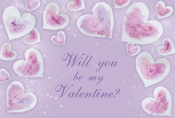 Will you be my Valentine template by digitalopedia on Creative Market