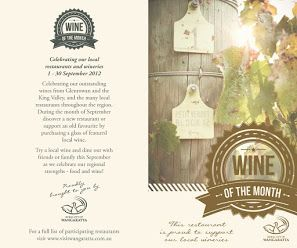 Wine of the Month Tourism Week Wine table cards table talkers Rural City of Wangaratta