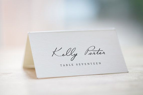 Printable place card Wedding place cards von Invitationstemplates