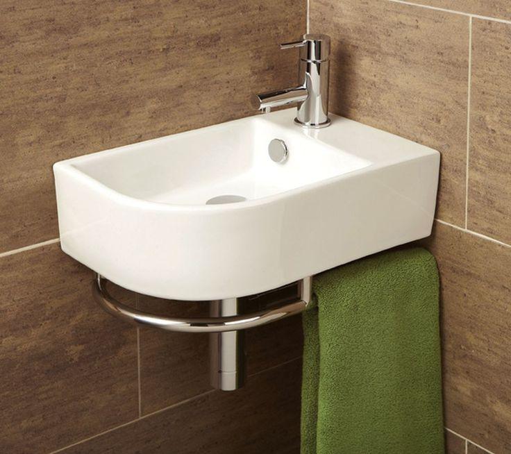 Small corner wash basin air knives